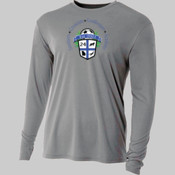 Logo - NB3165-GK A4 Youth Long Sleeve Cooling Performance Crew Shirt